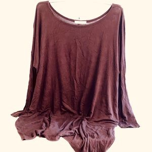 Cherish L Chocolate Brown Tunic